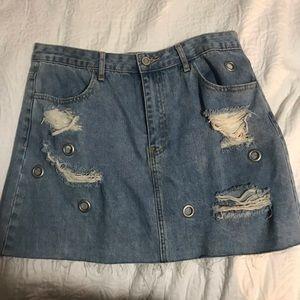 never worn jean skirt from forever 21!